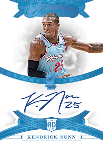 2019-20 Panini Flawless Basketball Rookie Autographs