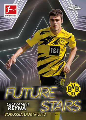 2020-21 Topps Chrome Bundesliga Future Stars Giovanni Reyna