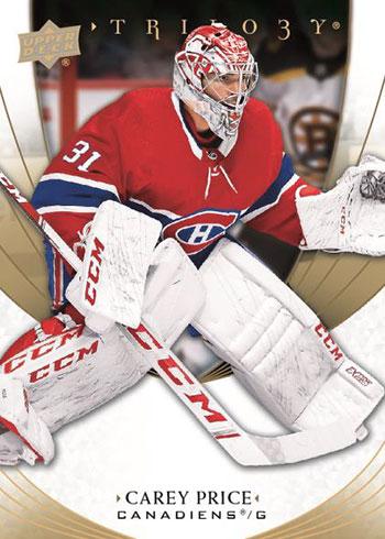 2020-21 Upper Deck Trilogy Hockey Carey Price