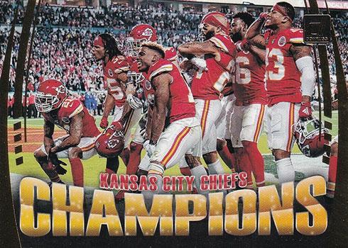 2020 Donruss Football Champions Kansas City Chiefs