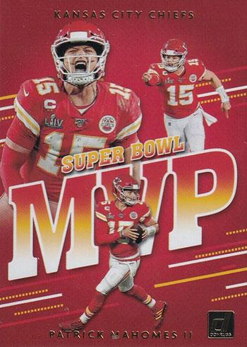 2020 Donruss Football Super Bowl MVP Patrick Mahomes
