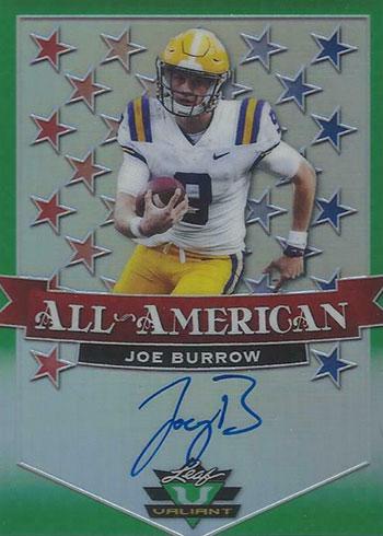2020 Leaf Valiant Football All-American Autographs Joe Burrow