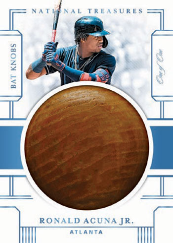 2020 Panini National Treasures Baseball Bat Knobs