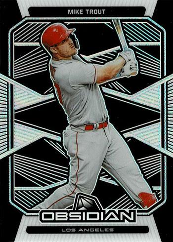 2020 Panini Chronicles Baseball Obsidian Mike Trout