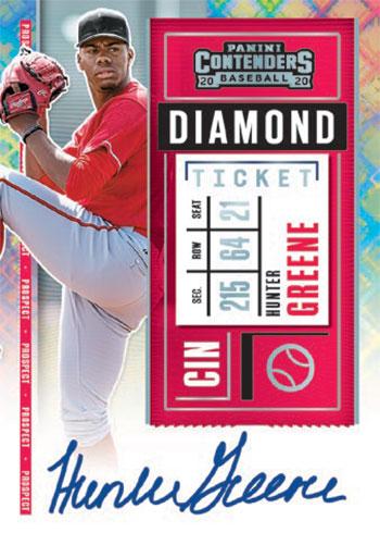 2020 Panini Contenders Baseball Prospect Ticket Autograph Diamond