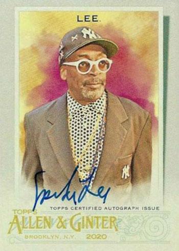 2020 Topps Allen & Ginter Baseball Spike Lee Autograph