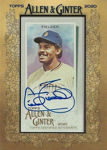 2020 Topps Allen & Ginter Baseball Cecil Fielder Autograph