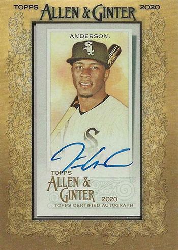 2020 Topps Allen & Ginter Baseball Tim Anderson Autograph
