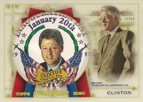 2020 Topps Allen & Ginter Baseball Presidential Pin Relics Bill Clinton