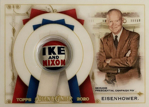 2020 Topps Allen & Ginter Baseball Presidential Pin Relic