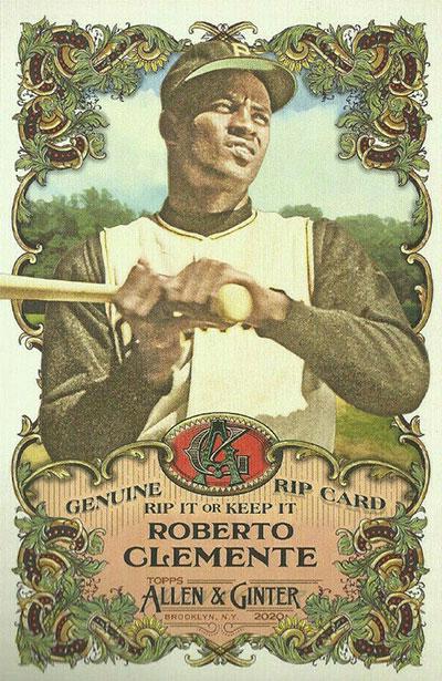 2020 Topps Allen & Ginter Baseball Box Loader Rip Cards Roberto Clemente