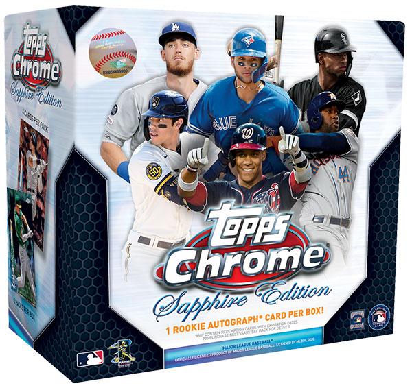 2020 Topps Chrome Sapphire Baseball Box