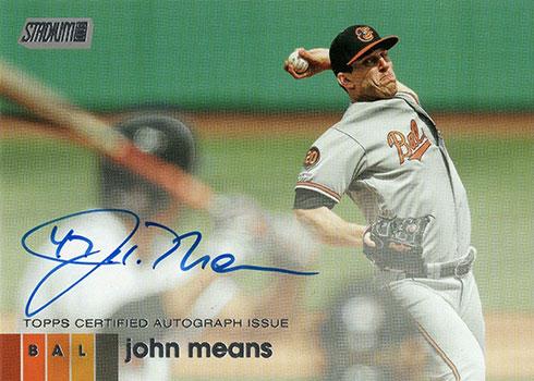 2020 Topps Stadium Club Baseball Base Autographs John Means