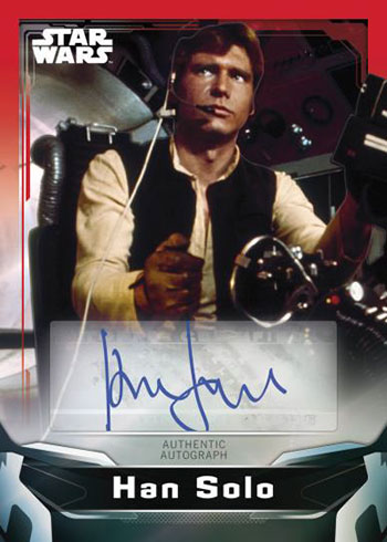 2021 Topps Star Wars Signature Series Red