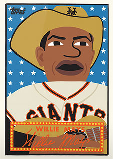 Topps Project 2020 244 Willie Mays by Keith Shore