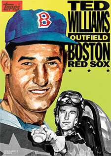 Topps Project 2020 262 Ted Williams by Jacob Rochester