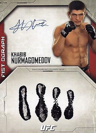 Khabib Nurmagomedov Cards - 2014 Topps UFC Knockout Fistographs