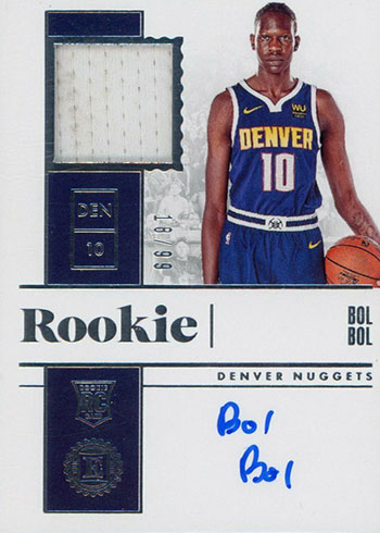 2019-20 Panini Encased Basketball Rookie Jersey Autographs Dual Bol Bol