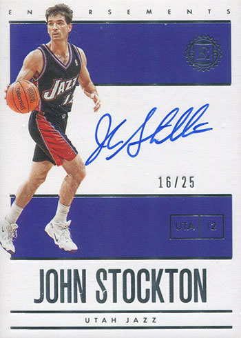 2019-20 Panini Encased Basketball Endorsements John Stockton