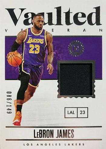 2019-20 Panini Encased Basketball Vaulted Veterans LeBron James
