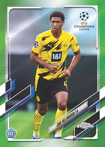 2020-21 Topps Chrome UEFA Champions League Soccer Neon Green Refractors
