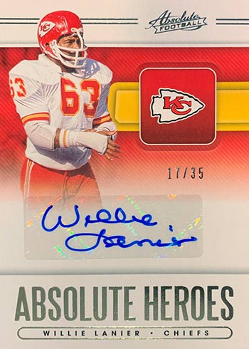 2020 Absolute Football Absolute Heroes Autographs Will Lanier