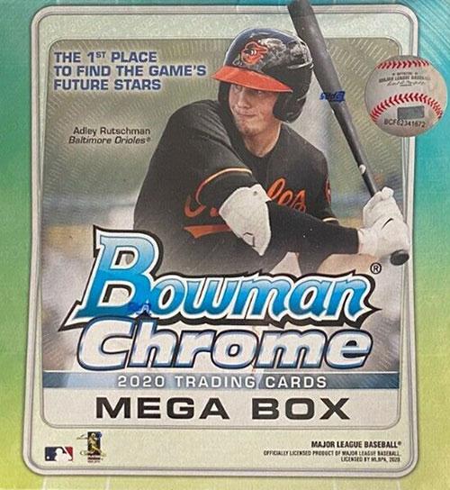 2020 Bowman Chrome Mega Box Baseball Box