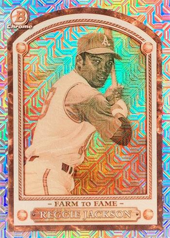 2020 Bowman Chrome Mega Box Baseball Farm to Fame Reggie Jackson
