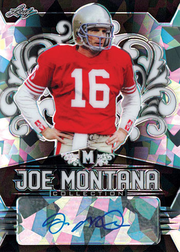 2020 Leaf Metal Joe Montana Collection Black Crystals Autograph