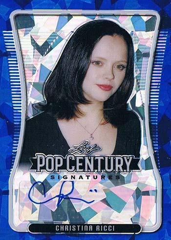 2020 Leaf Metal Pop Century Blue Crystals Christina Ricci Autograph