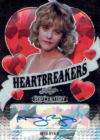 2020 Leaf Metal Pop Century Heartbreakers Black Crystals Meg Ryan Autograph