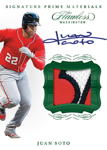 2020 Panini Flawless Baseball Signature Prime Materials