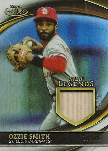 2020 Topps Gold Label Baseball MLB Legends Relics Ozzie Smith