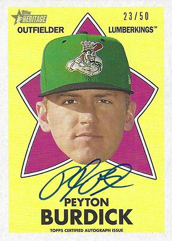 2020 Topps Heritage Minors Baseball 1971 All-Star Rookies Autographs Peyton Burdick