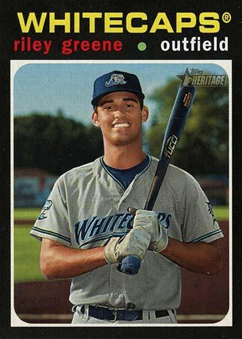 2020 Topps Heritage Minors Baseball Variations Riley Green Missing Signature
