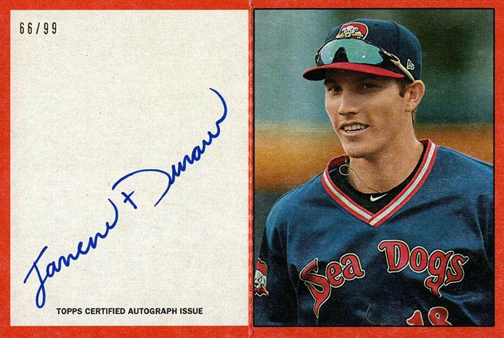 2020 Topps Heritage Minors Baseball 1971 Scratch-Offs Autographs Jarren Duran