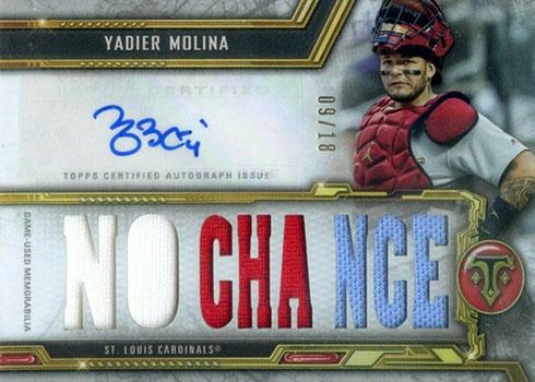 2020 Topps Triple Threads Baseball Autograph Relics Yadier Molina