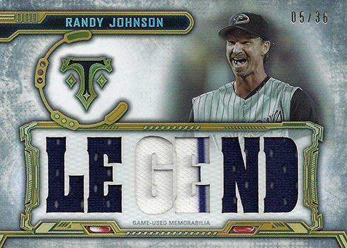 2020 Topps Triple Threads Baseball Relic Legends Randy Johnson