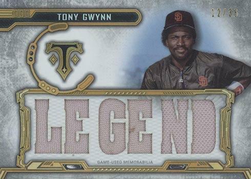 2020 Topps Triple Threads Baseball Legends Relic Tony Gwynn