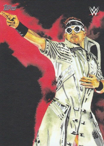 2020 Topps WWE Undisputed Rob Schamberger Art The Miz