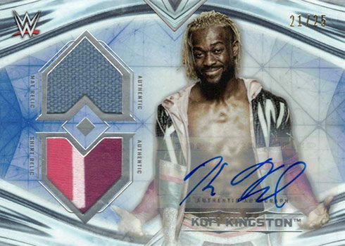 2020 Topps WWE Undisputed Dual Relic Autographs Kofi Kingston