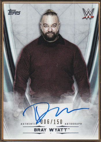 2020 Topps WWE Undisputed Framed Autographs Bray Wyatt
