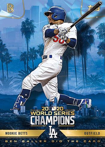 2020 Topps x Ben Baller Los Angeles Dodgers World Series Champions Mookie Betts