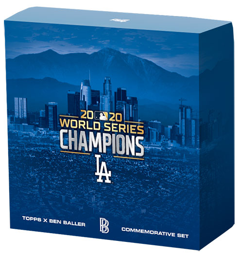2020 Topps x Ben Baller Los Angeles Dodgers World Series Champions Box Set