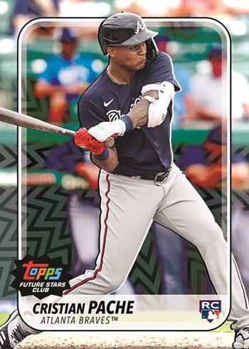 2020 Topps MLB Sticker Collection Future Star Club Card