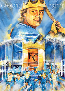 Topps Project 2020 286 George Brett by Andrew Thiele