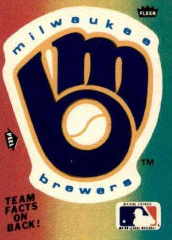 1983 Fleer Baseball Team Logo Stickers Milwaukee Brewers