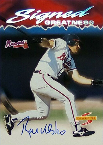 1995 Score Signed Greatness Ryan Klesko