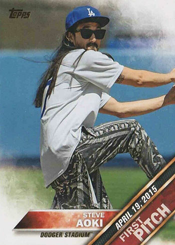 2016 Topps First Pitch Steve Aoki