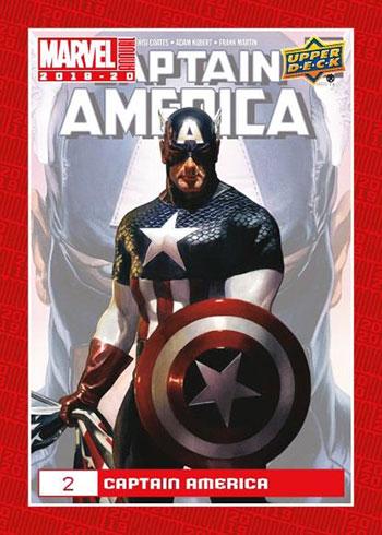 2019-20 Upper Deck Marvel Annual Base Captain America